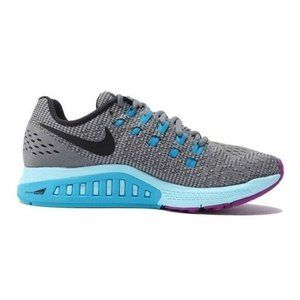 Nike Zoom Structure 19 Gray Mesh Running Shoes